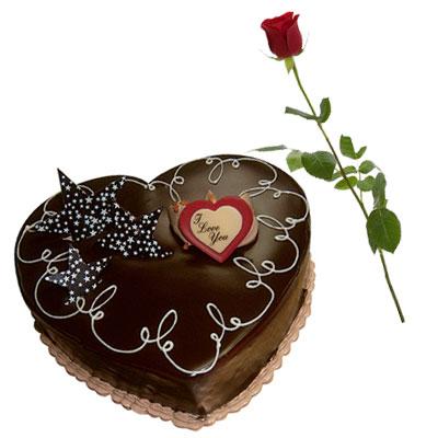 Happy Valentine S Day Cake Rose Flower To Cambodia Fresh Flower